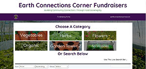 Earth Connections Fundraising Website, Seed and Gardening Company