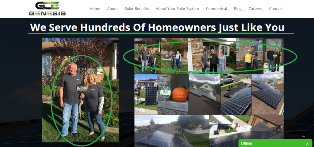 Social Proof For Solar Energy Website, Increase Conversion Rate