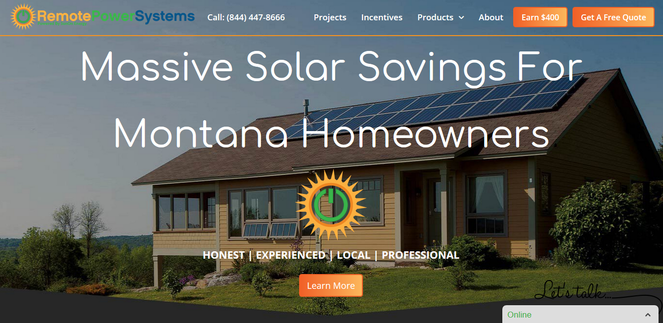 Solar Website Design